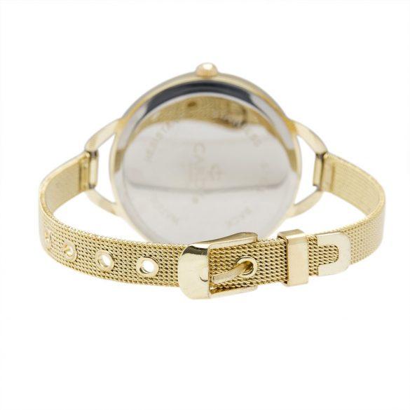 Cardy női fémszíjas quartz karóra, arany színű szíj és tok, arany színű számlap