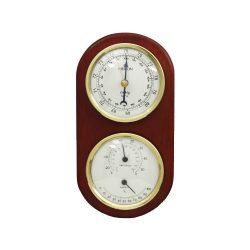 Merion fa fali barométer, hőmérő, páratartalom mérő, barna
