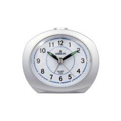 Merion ébresztőóra, quartz, ezüst színű