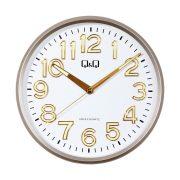 Q&Q falióra, quartz, arany színű tok, fehér számlap, 0310H501Y