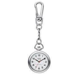 Q&Q nővér karóra, ezüst színű tok, fehér számlap, QA72J214Y