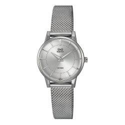 Q&Q női fémcsatos karóra, quartz, ezüst színű tok és csat, ezüst színű számlap, S399J211Y