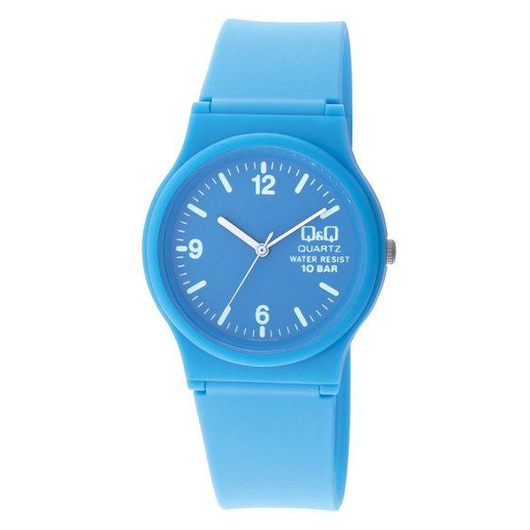 Q&Q női  quartz karóra, kék színű  műanyag tok és szíj, kék számlap, VP46J014Y
