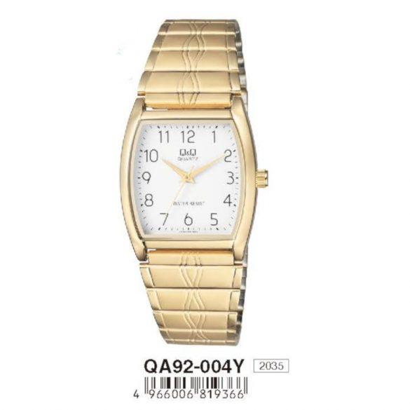 Q&Q férfi fémcsatos karóra, quartz, arany színű tok, QA92-004Y