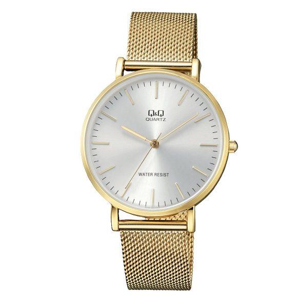 Q&Q férfi fémcsatos karóra, quartz, arany színű, QA20J001Y