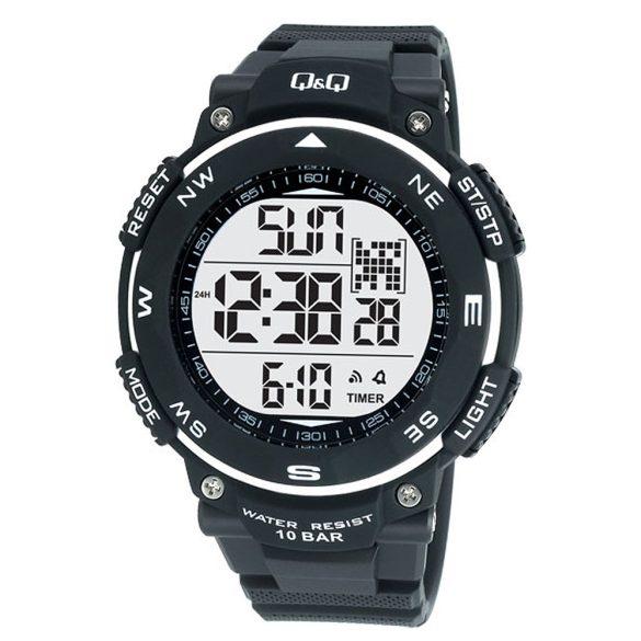 Q&Q férfi műanyag, quartz/LCD, fekete színű, M124J002Y