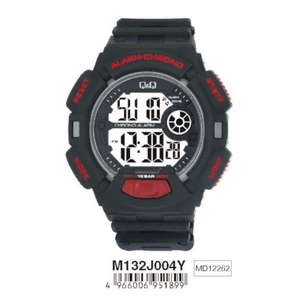 Q&Q férfi műanyag, quartz/LCD, fekete színű, M132J004Y
