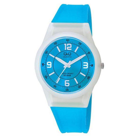Q&Q női műanyag karóra, quartz, fehér/kék színű, VQ50J011Y