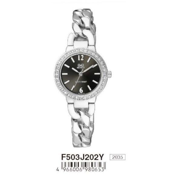Q&Q női ékszeróra, quartz, ezüst színű, F503J202Y