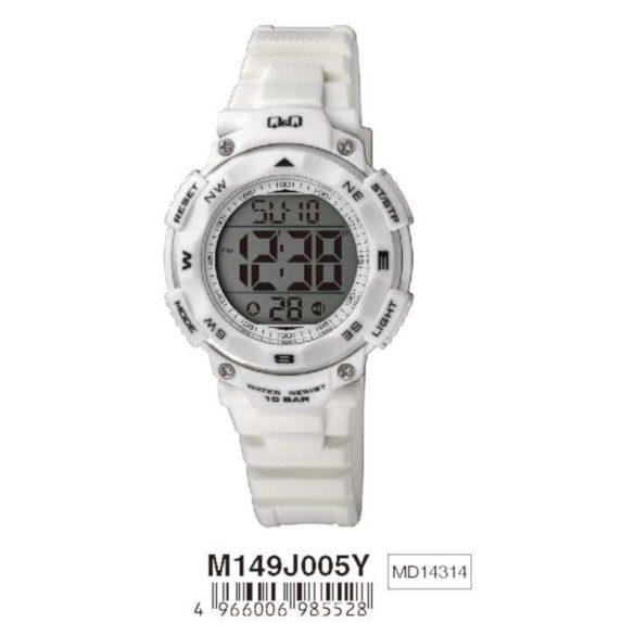 Q&Q női műanyag karóra, quartz/LCD, fehér színű, M149J005Y