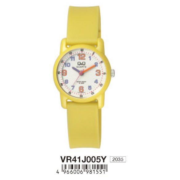 Q&Q gyerek karóra, quartz, sárga színű, VR41J005Y