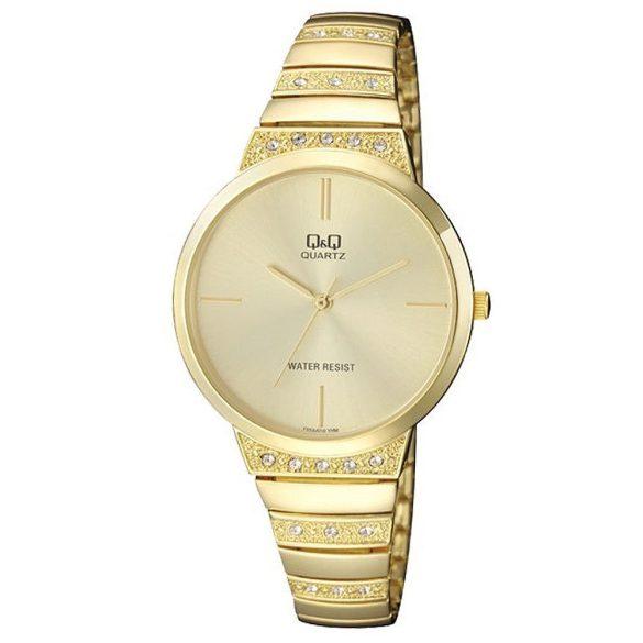 Q&Q női fémcsatos karóra, quartz, arany színű, F553J010Y