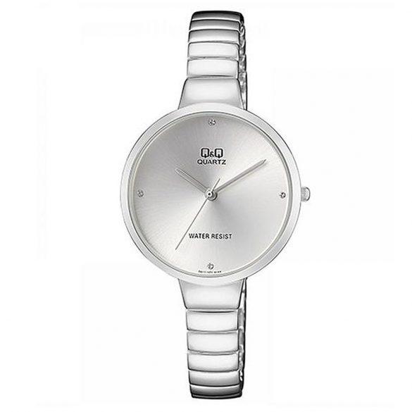 Q&Q női ékszeróra, quartz, ezüst színű, F611J201Y