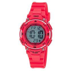 Q&Q női műanyag karóra, quart, piros színű, M149J004Y