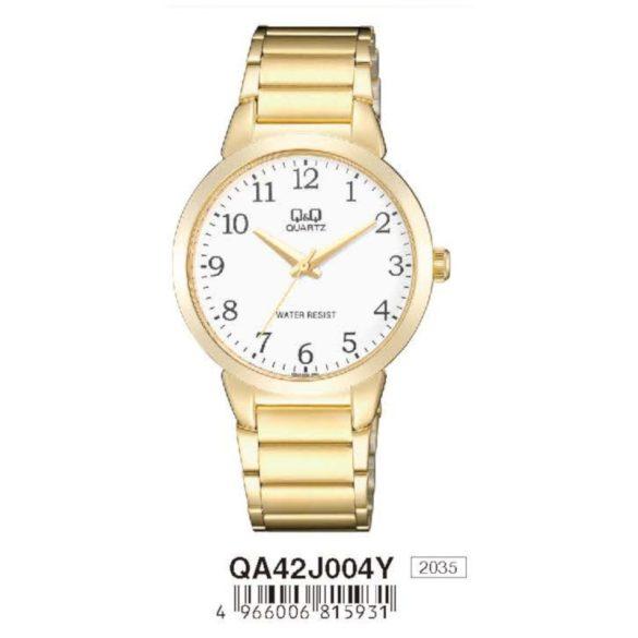 Q&Q férfi fémcsatos karóra, quartz, arany színű, QA42J004Y