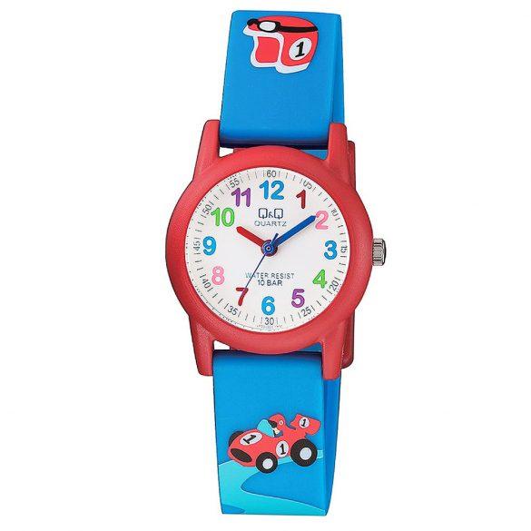 Q&Q gyerek karóra, quartz, kék/piros színű, VR99J004Y