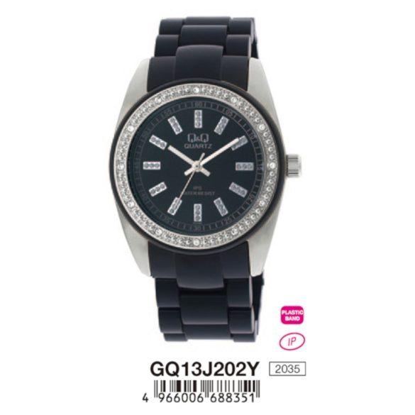 Q&Q női műanyag karóra, quartz, fekete színű, GQ13J202Y