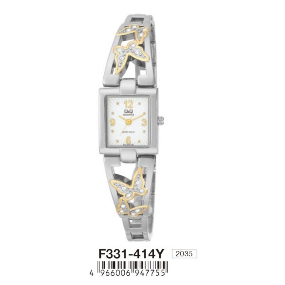 Q&Q női ékszeróra, quartz, ezüst színű, F331-414Y