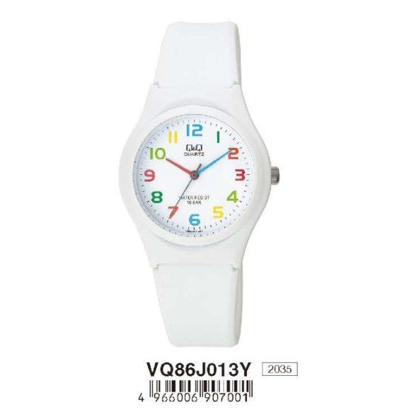 Q&Q női műanyag karóra, quartz, fehér színű, VQ86J013Y
