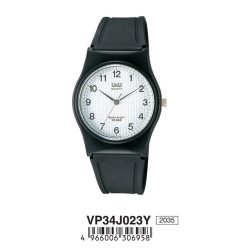 Q&Q férfi műanyag karóra,quartz,fekete színű, fekete színű tok, VP34J023Y