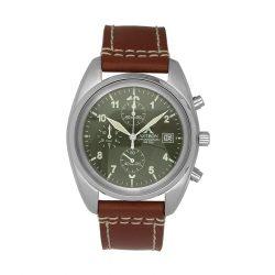 Astron retró pilóta stílusú karóra, zöld számlappal, chronograph szerkezettel