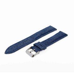 Karóra farmerszíj, kék ezüst, 75+125 mm/18 mm
