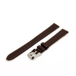 Karóra bőrszíj, varrás nélküli dizájn, sötétbarna színű, 65+105 mm/12 mm