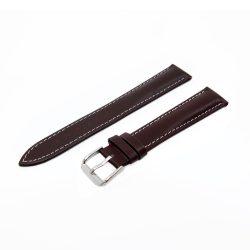 Karóra szíj, sportos varrott dizájn, barna színű, mérete 85+125/18 mm XL
