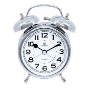 Merion fém ébresztőóra, quartz, ezüst színű, 3,5^