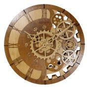 Astron fa falióra, fogaskerekes dizájn, kerek forma, natúr szín