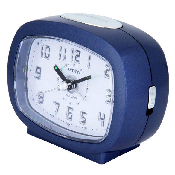 Astron ébresztőóra, quartz, kék, LED-es számlap