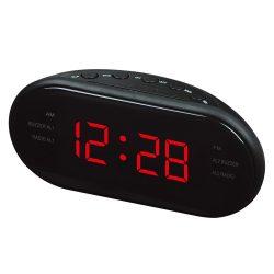 """Hálózati asztali óra, fekete tok, piros LED 1,2"""""""