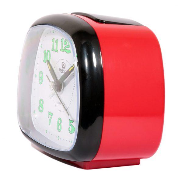 Merion ébresztőóra, quartz, piros színű, Melody+Bell