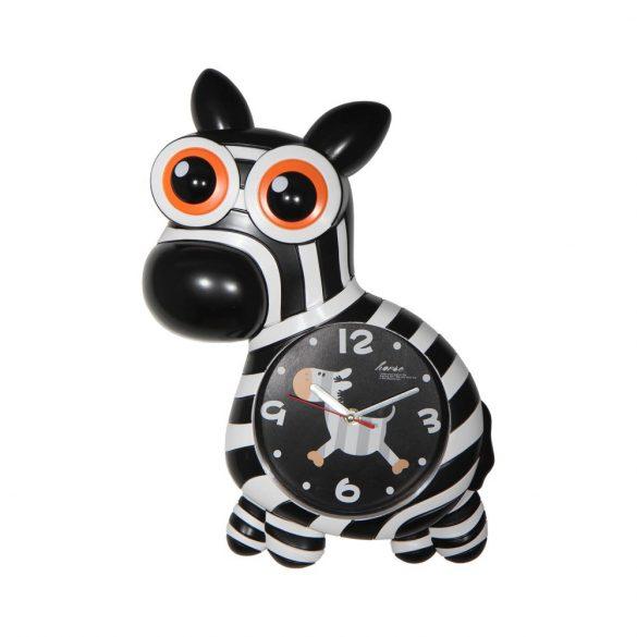 Figurás falióra (zebra)