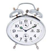 Merion fém ébresztőóra, mechanikus, ezüst színű