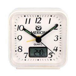 Merion ébresztőóra, quartz, fehér, analog-digitális