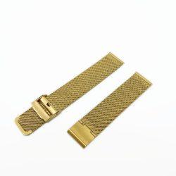 Acél karóra csat, fonott (mesh) dizájn, arany színű (IPG), 105+80 mm/20 mm