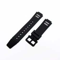 DW-002 70640484  Fekete műanyag óraszíj 20 mm