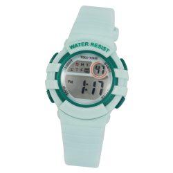 Tiko Time női műanyag karóra, quartz, zöld színű tok és csat, LCD számlap