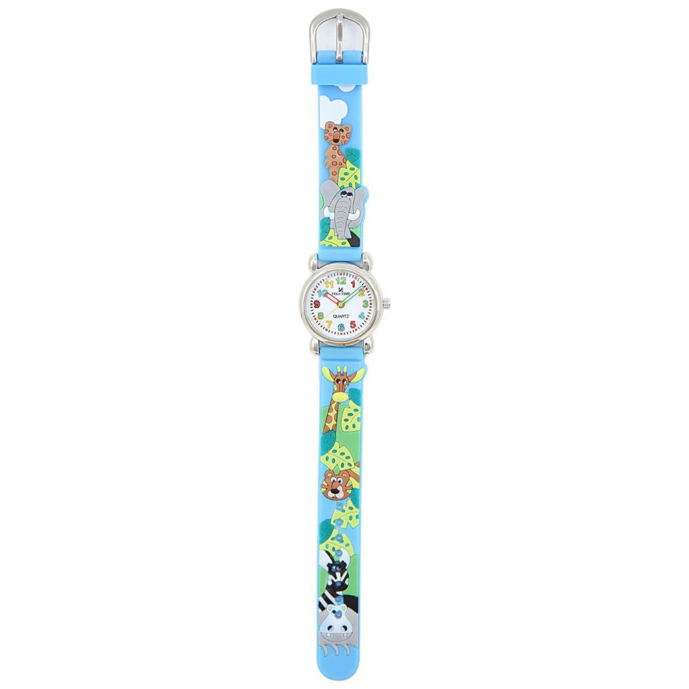 Tiko Time karóra gyerekeknek, quartz, 3D figurás kék alapon