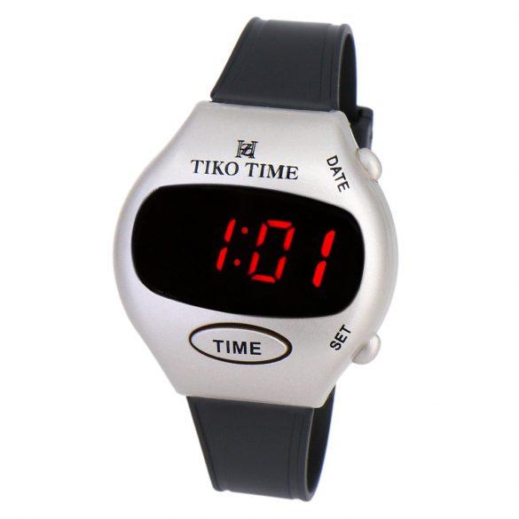 Tiko Time férfi karóra, LED-es, fekete színű