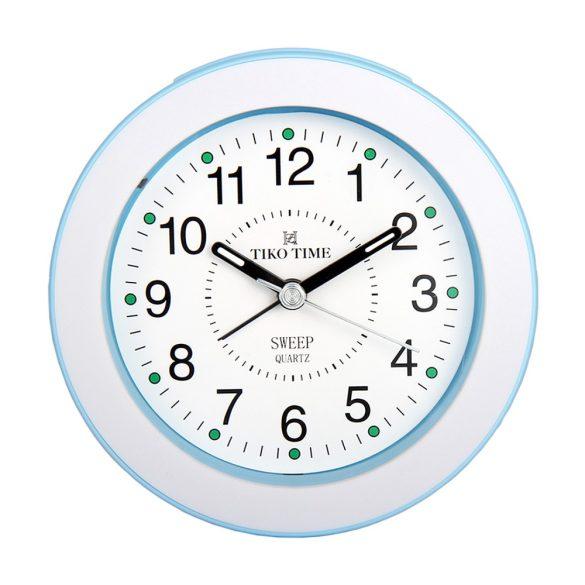 Tiko Time ébresztőóra, quartz, fehér/kék színű
