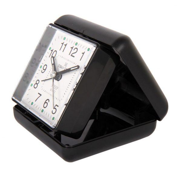 Tiko Time utazó ébresztőóra, quartz, fekete színű
