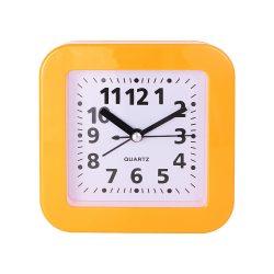 Ébresztő óra, quartz, négyszögletes forma, narancs színű