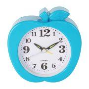 Ébresztő óra, quartz, alma forma, kék színű