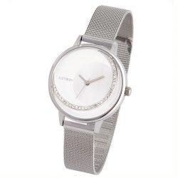 Astron női ékszeróra, quartz, ezüst színű tok és csat, fehér és ezüst színű számlap