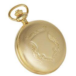 Astron férfi zsebóra, automata, arany színű tok (pajzsos), arab számos, 50 mm