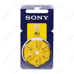 PR10 Hallókészülék Gombelem, B6/db (Sony)