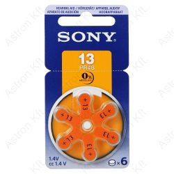 PR13 Hallókészülék Gombelem, B6/db (Sony)