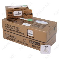 317 (SR516SW) ezüst-oxid gombelem, bl1 (Seizaiken, Mercury Free)